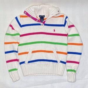 Ralph Lauren Girls Cotton Sweater mock turtleneck